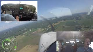 Accident avoided Cessna Skylane versus  F-16 at KTOL on the way to KOSH