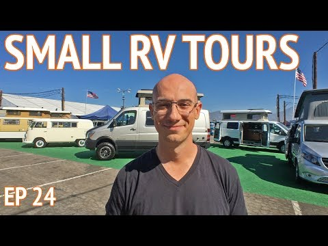 Small RV Tours at CA RV Show   EP 24 Camper Van Life
