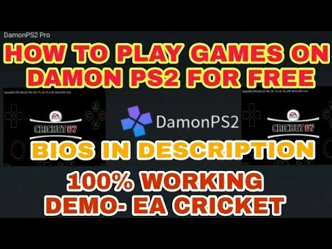 How to play games in damon ps2 pro after installing it for free | BIOS in Description |