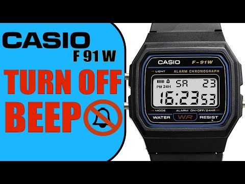 How to turn off BEEP on Casio F91W in 4K (60 seconds Tutorial)