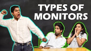 TYPES OF MONITORS in SCHOOL | The Half-Ticket Shows