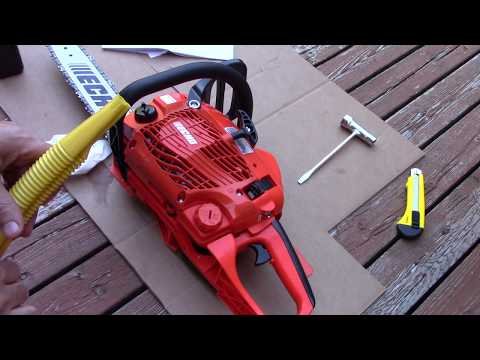 Echo CS310 Chainsaw Unboxing, Review, and Cutting footage