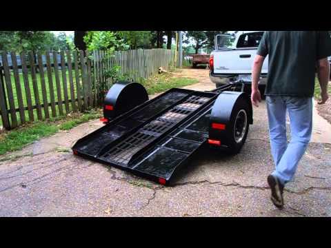 Single Axle Tilt Trailer Demo and Test