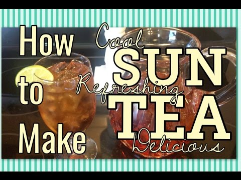 How to Make SUN TEA | Beautifully Refreshing LIPTON Iced Tea in the Summer Sun | The Green Notebook