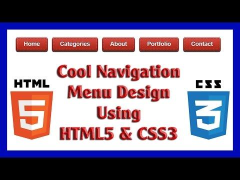 Cool Navigation Menu Design Using HTML5 & CSS3   Web Design Tutorial