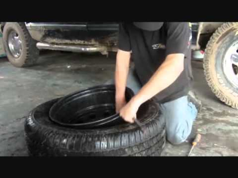 Taking A Tire Off The Rim 4.2 Minutes