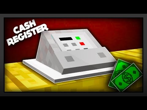 Minecraft - How To Make A Cash Register