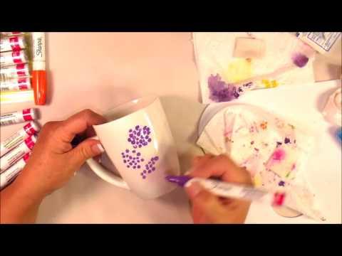 Oil Based Sharpies on a coffee mug