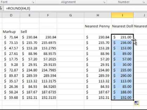 How to Round to a specific number in Excel