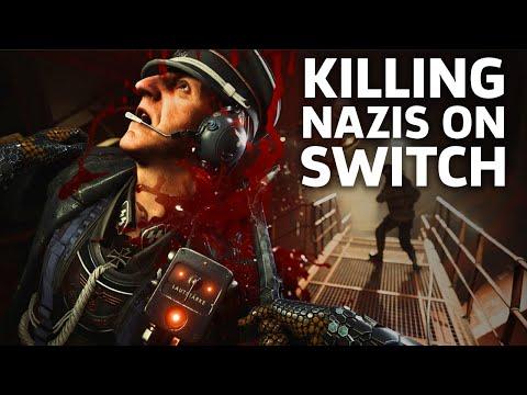 Wolfenstein 2 Nintendo Switch Gameplay: Killing Nazis On The Go