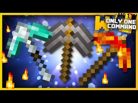 Minecraft - OP MINING TOOLS With Only Two Commands! (Ultimate Pickaxe, Magnet, Torch Gun & more!)