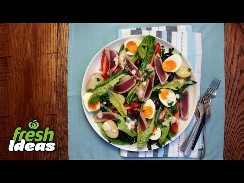 Nicoise Salad Recipe with Fresh Tuna & Baby Red Delight Potatoes | Woolworths