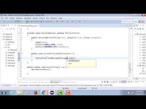 Java | Adding Sub Menu to Menu