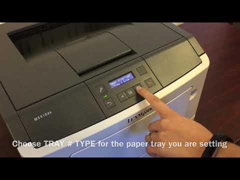 How to Set Your Lexmark MS312dn / MS312dnw Printer to Print on Labels