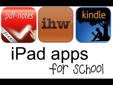 iPad Apps for School: Planning, Reading, Notes, PDFs - School Tips