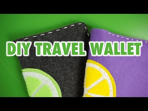 DIY Citrus Travel Wallet - HGTV Handmade