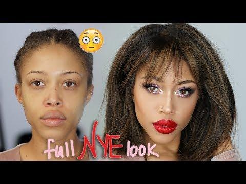 NYE FULL Transformation: Hair + Makeup | Wig Styling