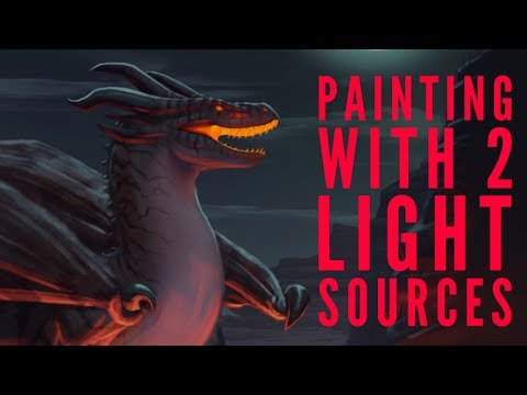 How to Paint With 2 Light Sources