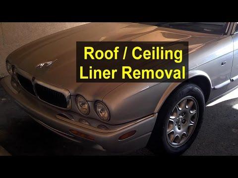 Roof, ceiling liner removal, Jaguar XJ8 - VOTD