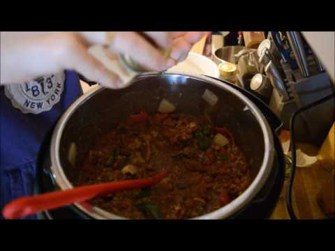 Making Chili in the Instant pot