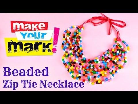 How To Make a Beaded Zip Tie Necklace DIY