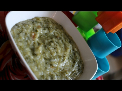 Baby food recipe - 12 + months baby food - Spinach, rice and dal