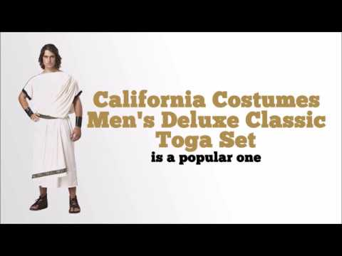 Deluxe Classic Mens Toga Costume from California Costumes