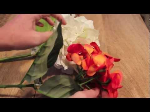 DIY False Flower Hair Clips.