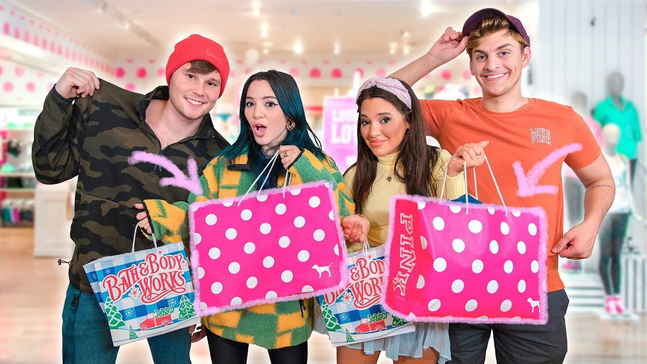 Shopping for our Boyfriends at Girly Stores Challenge 🎀