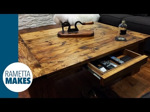 How to Build a Coffee Table // DIY