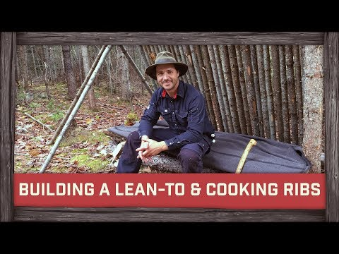 Building A Lean-To & Cooking Ribs!