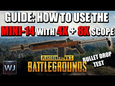 GUIDE: How to use the MINI-14 with the 4x + 8x SCOPE in PLAYERUNKNOWN's BATTLEGROUNDS (PUBG)