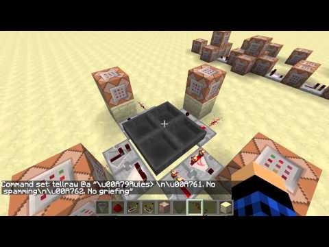 [1.8.7] Vanilla Minecraft Command Block Server Tutorial - Broadcasting Part 1