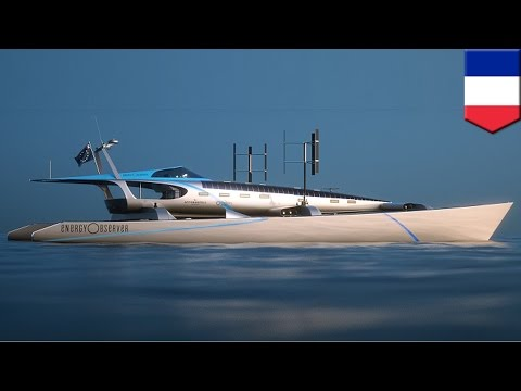 Green powered boat: Energy Observer to use all clean energy to sail around the globe - TomoNews