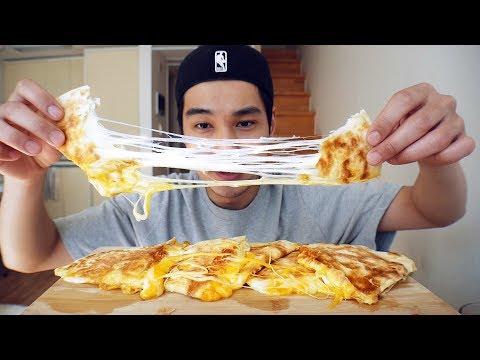 Extra Cheesy Quesadillas - MUKBANG