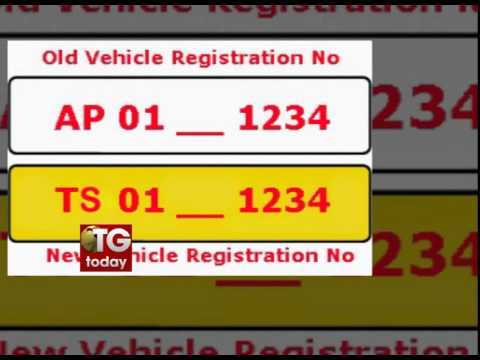 Change vehicle number from AP to TS for free