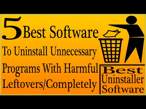 5 Best Uninstaller Software To Uninstall Stubborn/unnecessary Software Along Harmful Leftovers