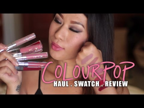 ColourPop Haul & Swatches! Shadows, Blushes, HiLiter, Lippie Stix, and Ultra Mattes!
