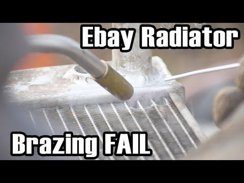 How NOT to Braze an Ebay Radiator Leak