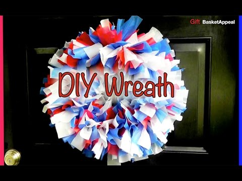 Easy DIY Wreath - Plastic Tablecloths