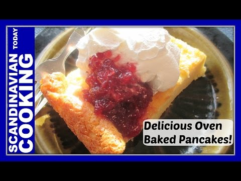 How To Make Finnish Pancakes - Pannukakku - This Finnish baked pancake recipe is sooo good!
