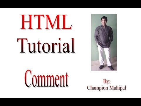 Learn HTML Tutorial 5 Using Comments