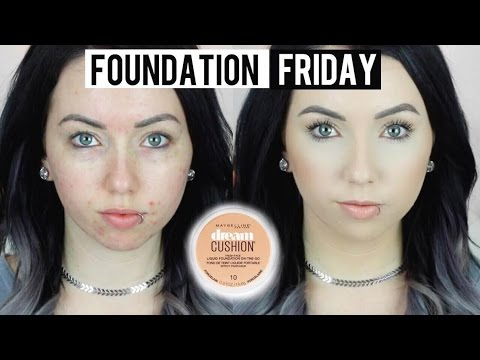 NEW MAYBELLINE DREAM CUSHION FOUNDATION Acne/Pale Skin {First Impression Review & Demo!}