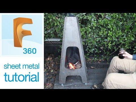 Fusion 360- Sheet Metal Fire Pit Tutorial