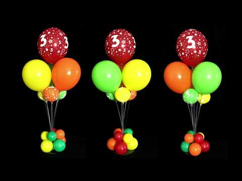 Balloon Bouquet Centerpieces Without Helium