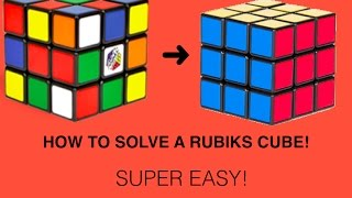 How To Solve A Rubik S Cube Beginners Method Super Easy