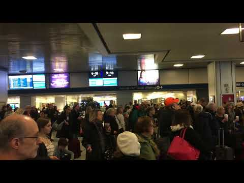 New York Penn Station Day before Thanksgiving 2017 I