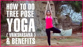 How To Do TREE POSE YOGA ( VRIKSHASANA ) & IT'S BENEFITS