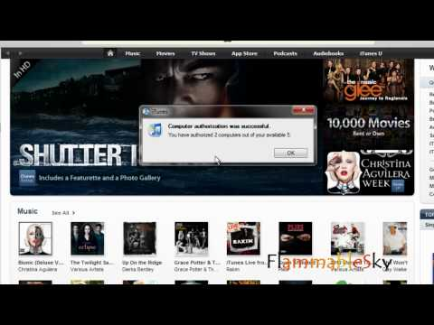 How to (DE)Authorize Your Computer On iTunes