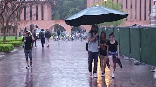 Making Strangers' Days with a Giant Umbrella!
